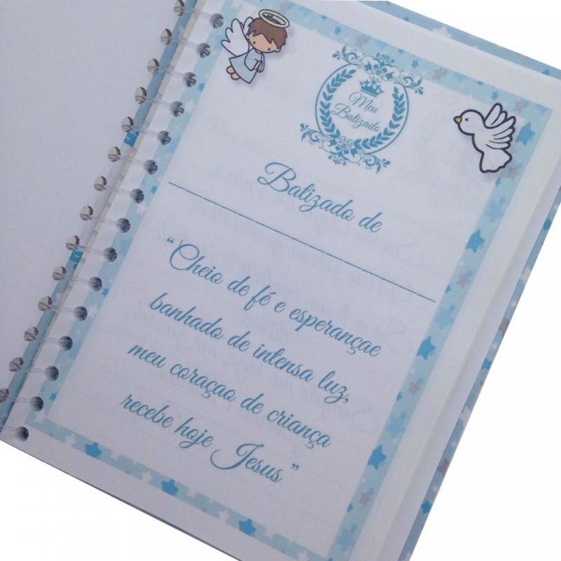 Livro De Batismo Azul REVARTESANATOS